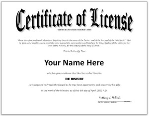 Striking image for free printable minister license certificate
